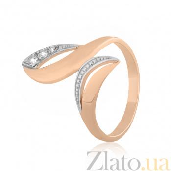 Позолоченное серебряное кольцо с фианитами Оливия 000025595