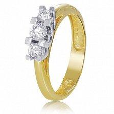 Золотое кольцо с кристаллами Swarovski Энджи