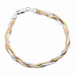 Серебряный браслет Арлинда с позолотой