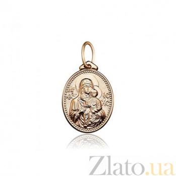 Золотая ладанка Божья матерь Одигитрия EDM--П0150