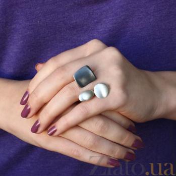 Серебряное кольцо Абстрактный мир К1-3 кв ч