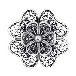 Серебряная брошка с чернением 000095545