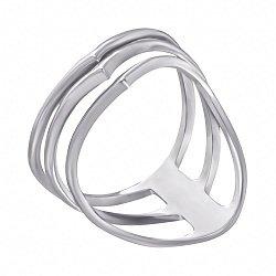 Серебряное тройное кольцо Акула