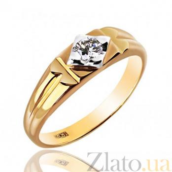 Печатка в желтом цвете золота с бриллиантом Магнетизм EDM--КП7000