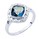 Серебряное кольцо Гиацинта с топазом мистик