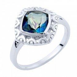Серебряное кольцо с топазом мистик 000055749