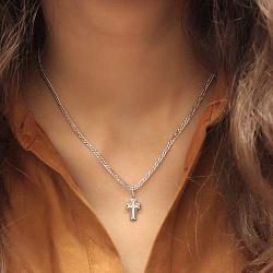 Серебряный декоративный крест Ясность с фианитами