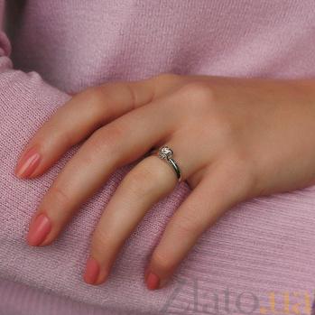 Золотое кольцо с бриллиантом Идиллия R0598/бел