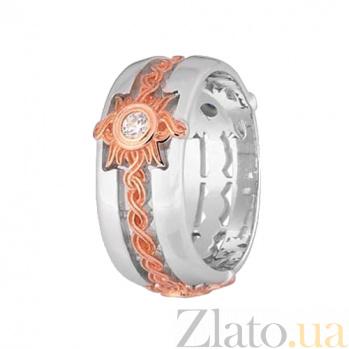 Кольцо из серебра с фианитом Солнце 000028038