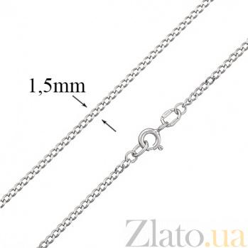 Серебряная цепочка покрытая родием Отелло, 1,5 мм HUF--10372 0506-Р