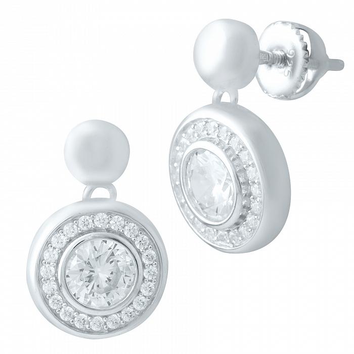 Серебряные серьги Марисабель с фианитами 000078076