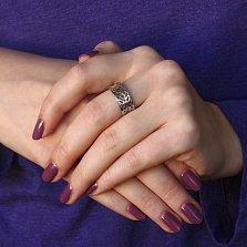 Серебряное кольцо Фракталы