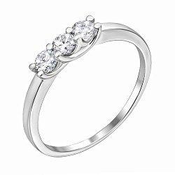 Кольцо из белого золота с бриллиантами 000122223