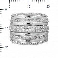 Кольцо из белого золота Присцилла с бриллиантами