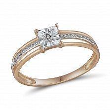 Кольцо из красного золота с бриллиантами Виттория
