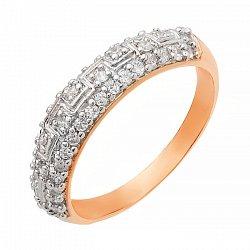 Позолоченое серебряное кольцо 000025656