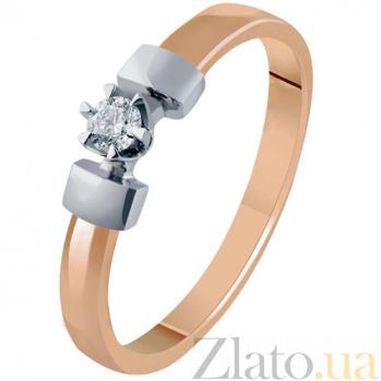Золотое кольцо с бриллиантом Соледад KBL--К1992/комб/брил