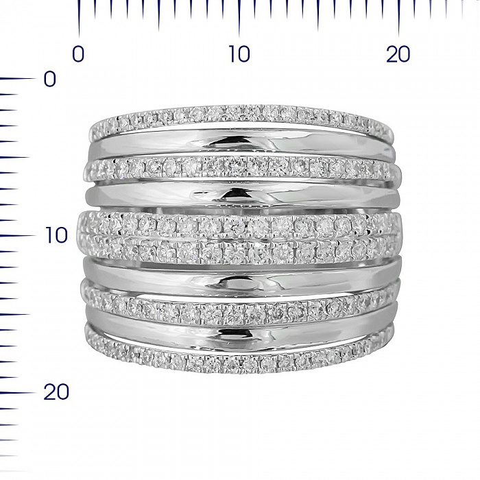 Кольцо из белого золота Присцилла с бриллиантами 000081004