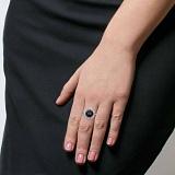 Кольцо серебро Виола с раухтопазом и фианитами