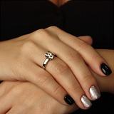 Золотое кольцо Верная любовь с бриллиантом