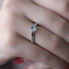 Серебряное кольцо Стенбек с топазом и фианитами