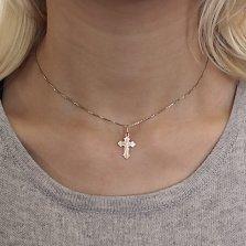 Золотой крестик Рыцарский на фигурной основе