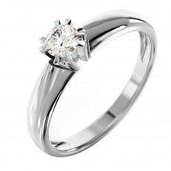 Кольцо из белого золота с бриллиантом Венера