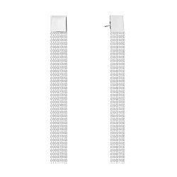Серьги-подвески из белого золота 000140558
