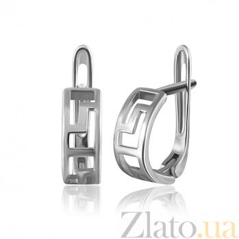 Серебряные серьги Меандр SLX--С2/119