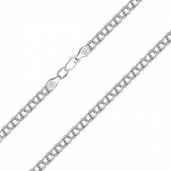 Серебряная цепочка в плетении бисмарк 4 мм 000121508