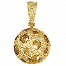 Подвеска из желтого золота с фианитами Эрида
