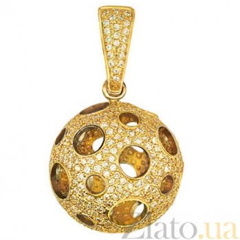 Подвеска из желтого золота с фианитами Эрида VLT--ТТ3345-1
