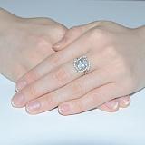 Серебряное кольцо с цирконием Мираж