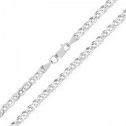 Серебряная цепь с родием, 3,5 мм 000026120