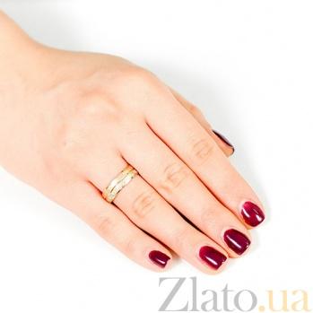 Золотое обручальное кольцо Вечная страсть 000001678