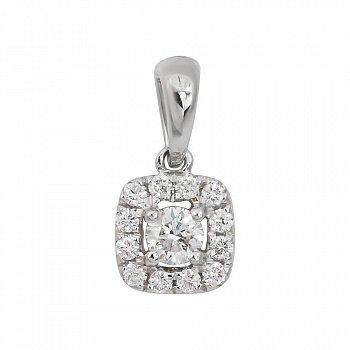 Підвіска з білого золота Меган з діамантами 000081054