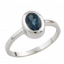 Серебряное кольцо Элиза с топазом лондон