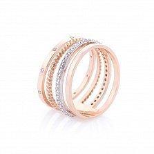 Золотое кольцо Легенда с фианитами