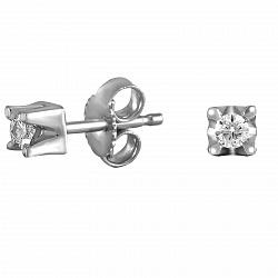 Серьги из белого золота Аквартис с бриллиантами