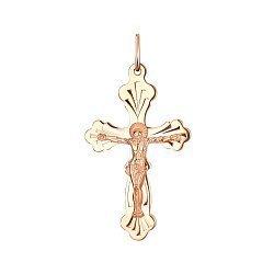 Крест из красного золота 000141656