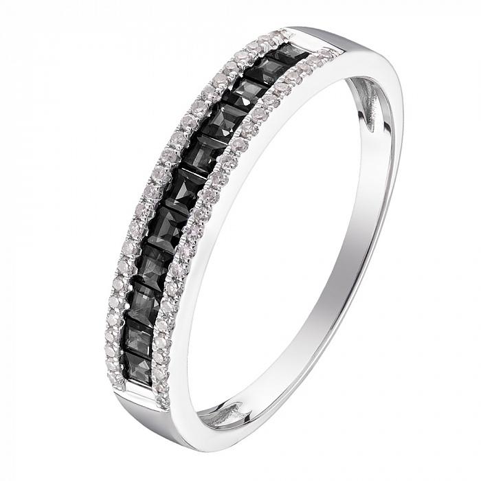 Кольцо в белом золоте Вероника с бриллиантами 000079367