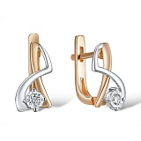 Серьги из золота с бриллиантами Синди