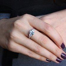 Серебряное кольцо Шарлиз с топазом и фианитами