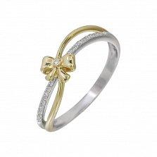 Золотое кольцо в комбинированном цвете с бриллиантами Утонченность