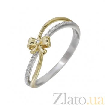 Золотое кольцо в комбинированном цвете с бриллиантами Утонченность 000032286