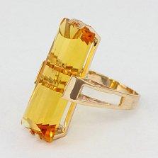 Кольцо из красного золота с цитрином Агапия