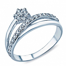 Серебряное кольцо с фианитами Лолла