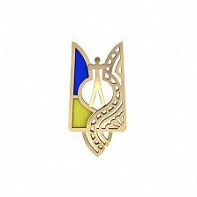 Значок в красном золоте Символ страны с эмалью