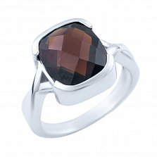 Серебряное кольцо Рэмира с гранатом