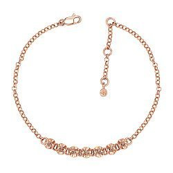 Золотой браслет Габриэлла в красном цвете с коньячными бриллиантами